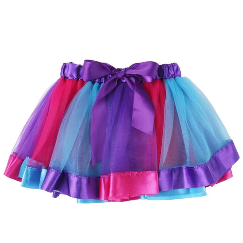 Rainbow Pettiskirt Tutu Skirt- Purple READY TO SHIP - Katy's Princess Boutique
