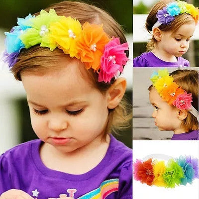 Rainbow Headband- READY TO SHIP - Katy's Princess Boutique