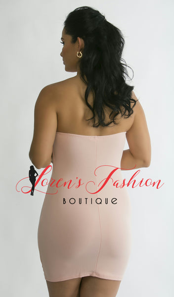 SOPHIA Blush Pink Strapless Dress - Katy's Princess Boutique