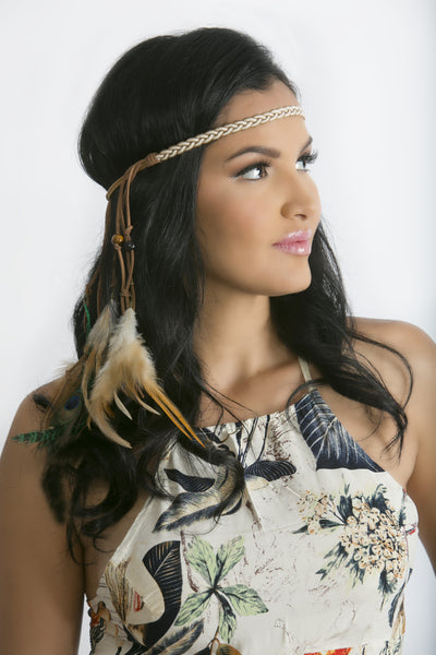 Festival Feather Headdress - Katy's Princess Boutique