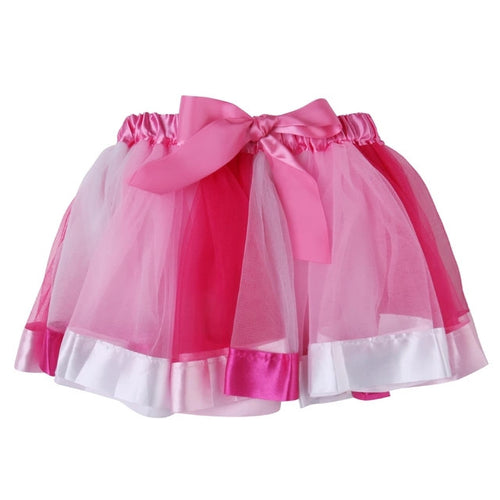 Rainbow Pettiskirt Tutu Skirt- Pink READY TO SHIP - Katy's Princess Boutique