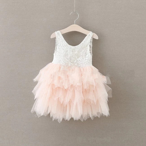 Lace Tutu Layered Dress - Pink - Katy's Princess Boutique