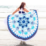 Geometric Flower Mandala Tassel Blanket - Katy's Princess Boutique