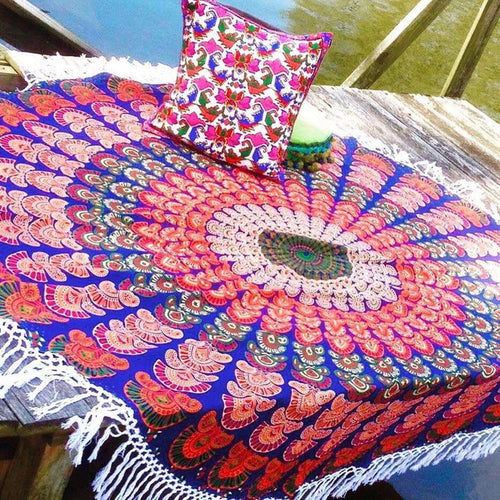 Colorful Tassel Mandala Blanket - Katy's Princess Boutique