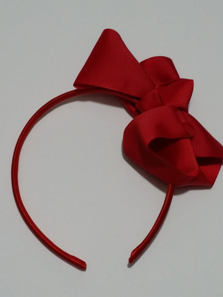 "5"" Hair Bows On Headbands- 20 Different Colors - Ready To Ship - Katy's Princess Boutique"