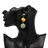 3 Tier Ball Earrings- Yellow, Green - Katy's Princess Boutique