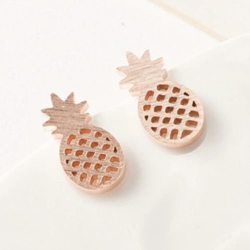 Pineapple Earings- 3 Color Options- Ready To Ship - Katy's Princess Boutique