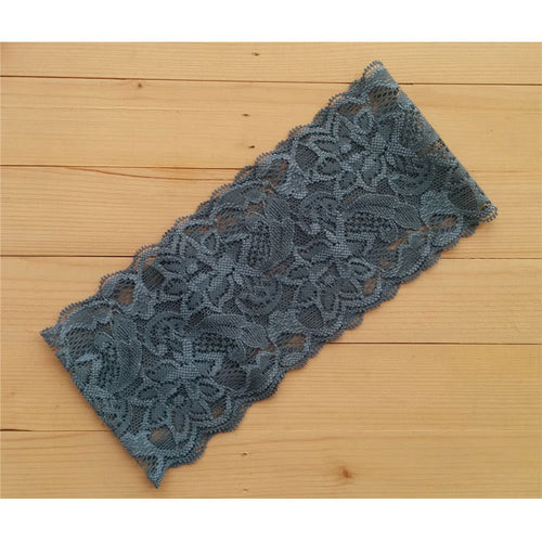 Lace Head Wrap- Grey - Katy's Princess Boutique