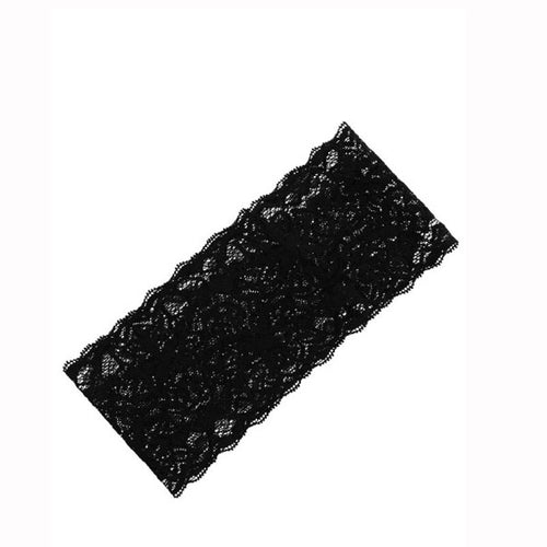 Lace Head Wrap- Black - Katy's Princess Boutique