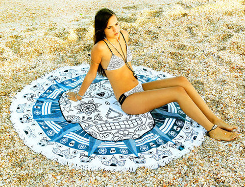 Skull Mandala Tassel Blanket - Katy's Princess Boutique