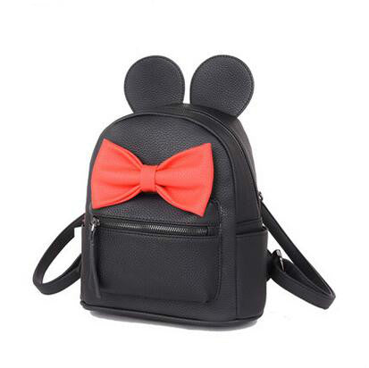 Mickey Minnie Mouse Ears Bow Medium Backpack- 3 Color Combinations -READY TO SHIP OPTION