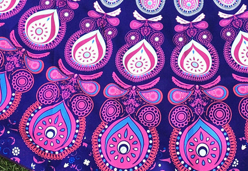Pink & Purple Peacock Mandala Blanket - Katy's Princess Boutique