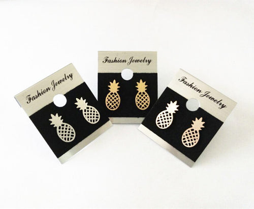 Pineapple Earrings- Available In 3 Colors Jewelry- Loren's Fashion Boutique