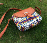 Aztec Design Blue Shoulder Bag - Katy's Princess Boutique