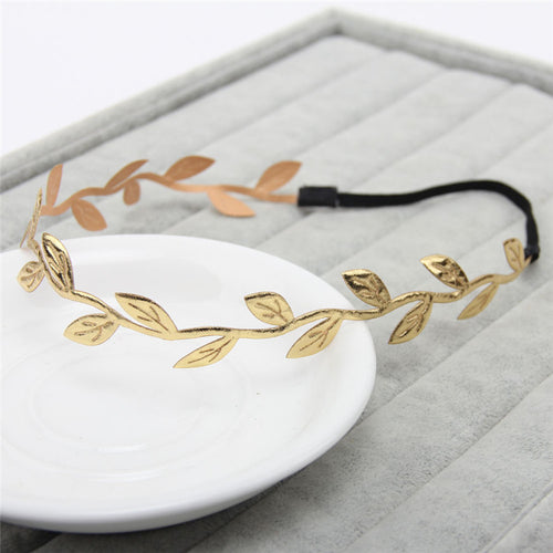 Gold Olive Leaf Headband - Katy's Princess Boutique