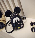 Mickey Mouse Rivet Chain Shoulder Messenger- Available In 9 Colors - Katy's Princess Boutique