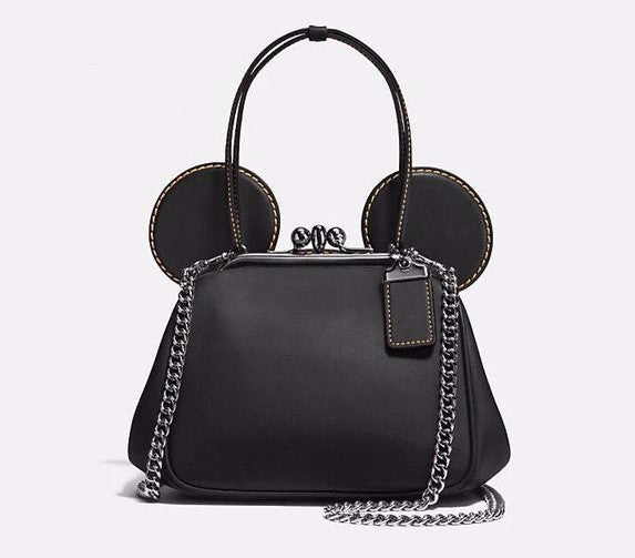 Mickey Minnie Mouse Ear Clip Chain Shoulder Crossbody Bag Handbag - Available In 2 Colors- Ready To Ship Option Available - Katy's Princess Boutique