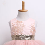 Sequins Bow Tutu Dress- Pink - Ready To Ship Available - Katy's Princess Boutique
