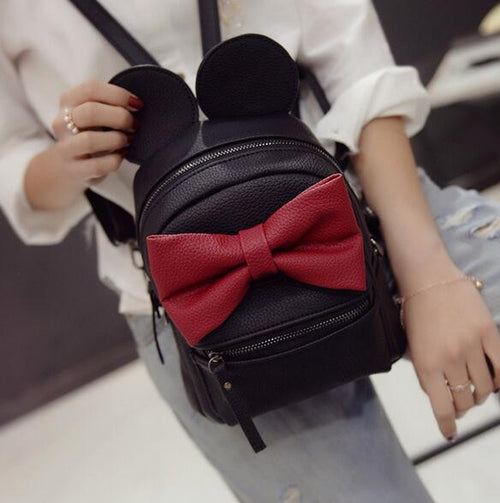 SALE ONLY $25.99 + - Disney Minnie Mickey Mouse Ears Bow Mini Backpack Bag- Available In 12 Color Combinations-READY TO SHIP OPTION AVAILABLE - Katy's Princess Boutique