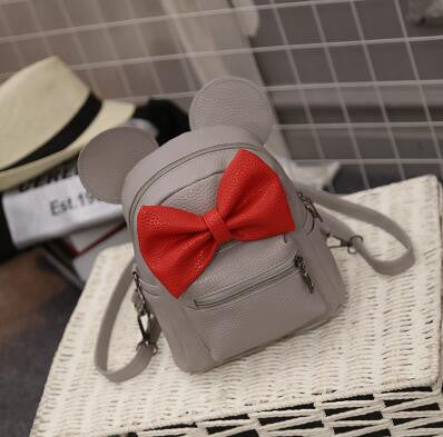 7b6ad1680f Minnie Mickey Mouse Ears Bow Mini Backpack Bag- Available In 12 Color  Combinations-READY .