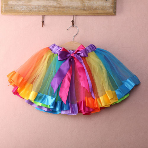 Rainbow Pettiskirt Tutu Skirt- Neon READY TO SHIP AVAILABLE - Katy's Princess Boutique