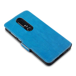Qubits Nokia 6.1 Plus Low Profile PU Leather Wallet Case - Blue