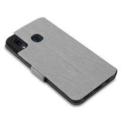 Qubits Samsung Galaxy A30 Low Profile PU Leather Wallet Case - Grey (CLEARANCE)