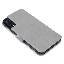 Qubits Samsung Galaxy A70 Low Profile PU Leather Wallet Case - Grey