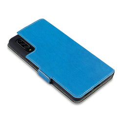 Qubits Samsung Galaxy A90 5G Low Profile PU Leather Wallet Case - Blue