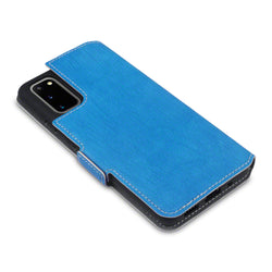 Qubits Samsung Galaxy S20 Low Profile PU Leather Wallet Case - Light Blue