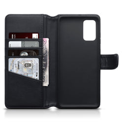 Qubits Samsung Galaxy S20 Plus Real Leather Wallet Case - Black
