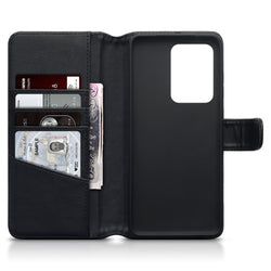 Qubits Samsung Galaxy S20 Ultra Real Leather Wallet Case - Black