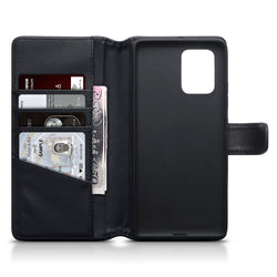 Qubits Samsung Galaxy A91 / S10 Lite Real Leather Wallet Case - Black