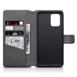 Qubits Samsung Galaxy A91 / S10 Lite Real Leather Wallet Case - Grey
