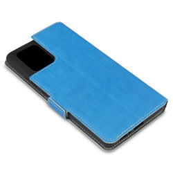 Qubits Samsung Galaxy A91 / S10 Lite Low Profile PU Leather Wallet Case - Light Blue