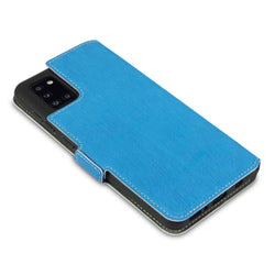 Qubits Samsung Galaxy A31 Low Profile PU Leather Wallet Case - Light Blue