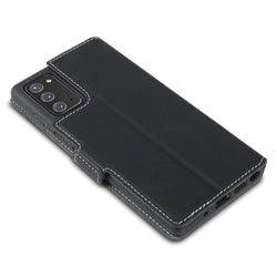 Qubits Samsung Galaxy Note 20 Low Profile PU Leather Wallet Case - Black