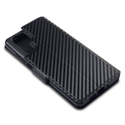 Qubits Huawei P30 Pro Low Profile PU Leather Wallet Case - Black Carbon Texture