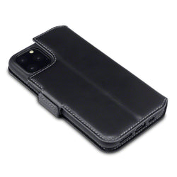 Qubits Apple iPhone 11 Pro Low Profile Genuine Leather Wallet Case - Black