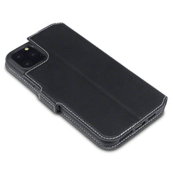 Qubits Apple iPhone 11 Pro Max Low Profile PU Leather Wallet Case - Black