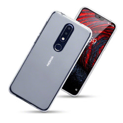 Qubits Nokia 6.1 Plus TPU Gel Case - Clear Frosted