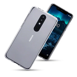 Qubits Nokia 5.1 Plus TPU Gel Case - Clear (CLEARANCE)