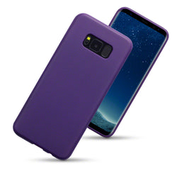 Qubits Samsung Galaxy S8 Plus TPU Gel Case - Solid Purple Matte