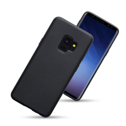 Qubits Samsung Galaxy S9 TPU Gel Case - Solid Black Matte