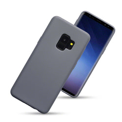 Qubits Samsung Galaxy S9 TPU Gel Case - Solid Grey Matte