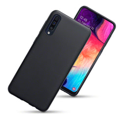 Qubits Samsung Galaxy A50 TPU Gel Skin Case - Black Matte