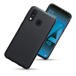 Qubits Samsung Galaxy A40 TPU Gel Case - Black Matte