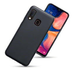 Qubits Samsung Galaxy A20e TPU Gel Case - Black Matte