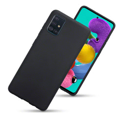 Qubits Samsung Galaxy A51 TPU Gel Skin Case - Black Matte