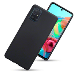 Qubits Samsung Galaxy A71 TPU Gel Skin Case - Black Matte